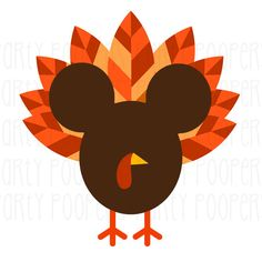 Mickey Mouse Thanksgiving Turkey T Shirt Iron On Transfer Personalized *FREE…