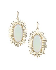 Mariah Drop Earrings in White Iridescent