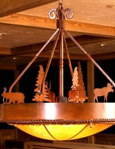 Bear and moose woodland chandelier #LGLimitlessDesign & #Contest