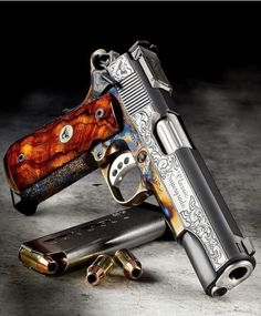 Weapons Guns, Guns And Ammo, Armas Ninja, Wilson Combat, 1911 Pistol, Custom Guns, Custom 1911, Gun Art, Shooting Guns