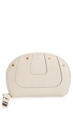 Chloé 'Hayley' Zip Around Calfskin Leather Wallet available at #Nordstrom