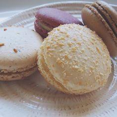 PARIS Gourmet Macarons: Coconot • Praline • Coffee • Red Velvet French Cafe, Gelato, Macarons, Red Velvet, Bread, Paris, Chocolate, Coffee, Food