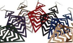 zigzagging earrings