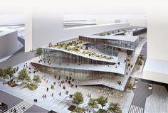 El japonés Kengo Kuma & Asociados gano el primer premio del concurso para la construcción de la estación ferroviaria de Saint- Denis Pleye...