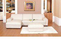 Chaise corner sofa leather mix cream black brown with footstool Cream Leather Sofa, Modern Leather Sofa, Leather Sofa Set, Cream Corner Sofa, How To Make Corner Sofa, Sofa Colors, Colours, Comfy Sofa, Black Sofa