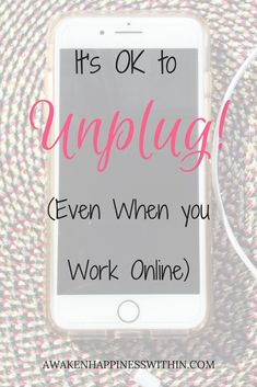 Sometimes we all need to #Unplug from the internet. #unplugged #takeabreak