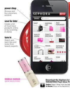 Sephora Iphone app!  Need this!!!