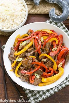 Asian Beef with Peppers   A quick and easy weeknight meal!!