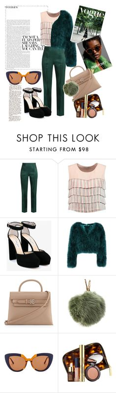 """""""GREEN"""" by katsianna ❤ liked on Polyvore featuring Rosie Assoulin, Alexis, Jimmy Choo, Tom Ford, Alexander Wang, Furla, Marni and Estée Lauder"""