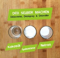 Deo selber machen – Mit Natron & Kokosöl With coconut oil or soda, you can make a natural deodorant yourself. Here I show you how you can make Deospray, Deo Cream and Roll On Deo by yourself. Diy Deodorant, Deodorant Recipes, Natural Deodorant, Homemade Beauty, Diy Beauty, Diy Shampoo, How To Clean Makeup Brushes, Skin Food, Natural Make Up