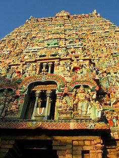 Sarangapani Temple is a Hindu temple dedicated to Vishnu, located in Kumbakonam, Tamil Nadu, India. It is one of the Divya Desams, the 108 temples of Vishnu revered in Nalayira Divya Prabandham by the 12 poet saints, or Alwars. It is along the Kaveri river and is one of the Pancharanga Kshetrams.