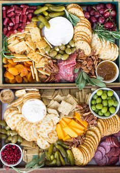 The perfect addition to any winter holiday party is a cheese board! Full of fruits, meats, cheeses, nuts, and olives, it is perfect for satisfying all your guests at the same time! Winter Holiday Party Cheese Board Appetizer Recipe | Take Two Tapas