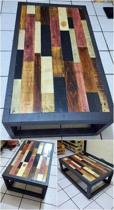 Now this is what we call a wood pallet reusing creation that will stop your heart beats for a few seconds! So much to catch in this wood pallet creation for your! It is brilliantly added with the wood pallet table that is blended with the extra additional effect of mind-blowing textured designing all over it.