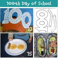 100 Day of School Stuff- including a printable templet for 100 day glasses.
