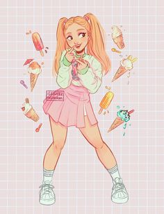 Character Design~ By Itslopez Girl Drawing Sketches, Cute Girl Drawing, Cartoon Girl Drawing, Cool Art Drawings, Girl Cartoon, Cartoon Drawings, Cute People Drawings, Character Design Girl, Character Design Inspiration
