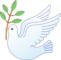 Peace Dove Carrying Olive Branch