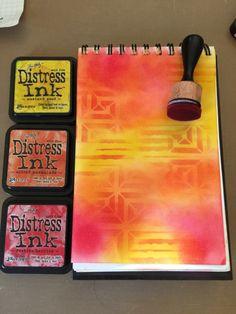 Marjie Kemper Art Journal with Distress Inks