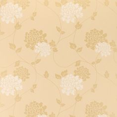 Isodore Gold Floral Wallpaper