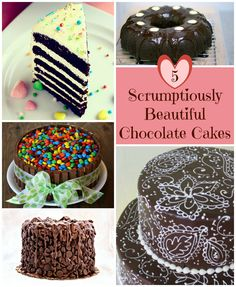 5 Scrumptiously Beautiful Chocolate Cake Design Ideas you will drool over. Chocolate Cake Designs, Chocolate Desserts, Cake Chocolate, Cupcake Recipes, Cupcake Cakes, Beautiful Chocolate Cake, Holiday Cupcakes, Easy Cake Decorating, Recipes