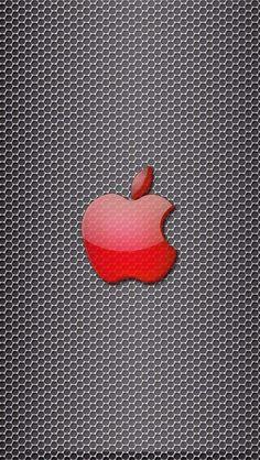 iPhone 5 Wallpaper Apple logo red