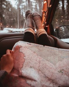 Ready for winter road trips # Adventure Travel Road Trips Winter Road, Winter Time, Winter Season, Cozy Winter, Winter Photography, Travel Photography, Christmas Tumblr Photography, Winter Poster, Christmas Aesthetic