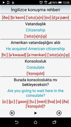 This Pin was discovered by ÜMM English Words, English Lessons, Learn English Kid, Vocabulary Journal, Turkish Lessons, Learn Turkish, Turkish Language, Language Study, Citizenship