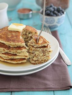 Meyer Lemon Pancakes made with quinoa for an extra protein boost.
