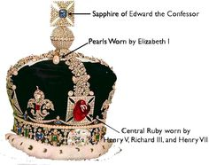 Few of the jewels used in the Tudor era have remained. Most of the crown jewels were destroyed by Oliver Cromwell when England became a Commonwealth. However, a few have survived and are now part of the present set of Crown Jewels.