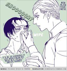 Scenes from Eruri's day-to-day life (manga by Pechiko, translation by konekojita)