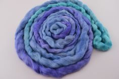 Wool Roving English Leicester Combed Wool Tops Tasmanian Grown Non Mulsed Spinning Weaving Needle Felting Opal Blue Purple 100g 12126