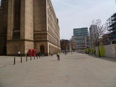 Outside Library and Town Hall Extension MCR