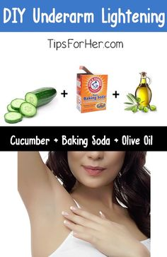 DIY Under Arm Lightening #Health #Fitness #Trusper #Tip