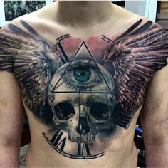 """This chest piece is crazy  artist unknown  #mindblowingtattoos  Follow @inklives"""