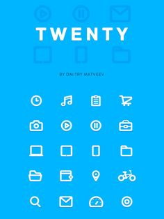 Freebie: The TWENTY Icon Set for Web Designers (20 Icons, AI)