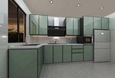 Best Quality Aluminium Glass Folding Doors by Al-Basira Aluminum Kitchen Cabinets, Aluminium Kitchen, Kitchen Units, Folding Doors, Cupboard, Kitchen Design, Sweet Home, Room Decor, Range