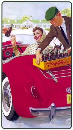 illustrations vintage coca cola - Page 5 Coca Cola Poster, Coca Cola Ad, Always Coca Cola, World Of Coca Cola, Coca Cola Vintage, Old Advertisements, Retro Advertising, Pin Ups Vintage, Diy Image