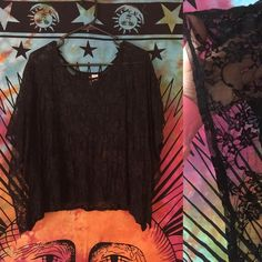 black lace h&m shirt •this is a very pretty shirt! •their size chart is numbers, but this fits small/medium •worn but still in good condition! no flaws •perfect with any outfit almost  ☀️ Don't like the price? Make me an offer  Fast Shipping✈️ Same or Next Day  Bundle Discount: 15% OFF 2+ items ⚓️ Thank you for checking out my closet H&M Tops Blouses