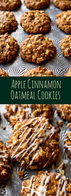 How to make apple cinnamon oatmeal cookies on sallysbakingaddiction.com