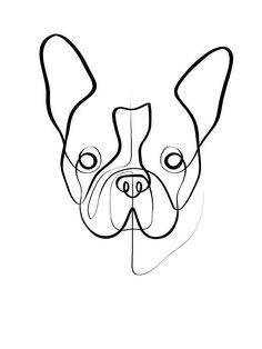 Dog Portrait Custom, Pet Portrait Memorial Gift, Dog Lover Mom Gift, Pet Parent Gift, Loss of Dog Pet Drawing Dog Line Drawing, Dog Line Art, French Bulldog Tattoo, French Bulldog Art, Custom Dog Portraits, Pet Portraits, Arte Sketchbook, Art Mural, Wall Art