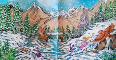"""106 kedvelés, 9 hozzászólás – Ann (@annsblissfullife) Instagram-hozzászólása: """"From Mythomorphia by Kerby Rosanes. Its the Yeti'!!!!!!❤ Used Marco Renoir pencils, acrylic paint,…"""""""