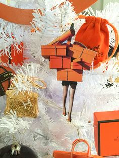 Designer Christmas tree, Hermès Christmas tree