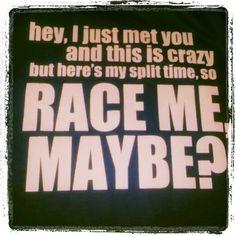 hahaha, sometimes, it really does happen at the start line :)
