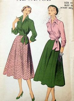 Advance 5563 (1950)  This is absolutely gorgeous. Must find this pattern.