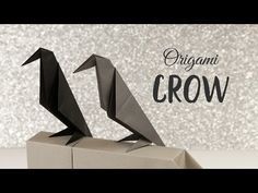 Perching Origami Crow Tutorial ❖ Halloween DIY ❖ Paper Kawaii - YouTube