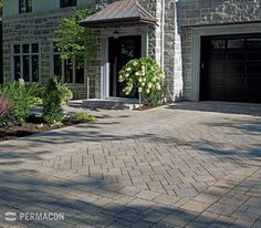 Garage entrance with different installation pattern Dream Home Design, House Design, The Selection, Entrance, Sidewalk, Public, Outdoor Decor, Inspiration, Pose