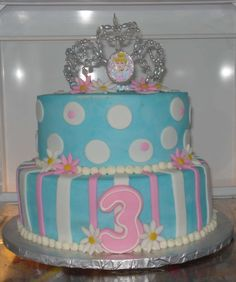 cinderella cakes birthday cakes | cinderella cake two tier cake with fondant accents and store bought ...