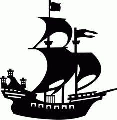 Silhouette Design Store - View Design #42425: pirate ship silhouette