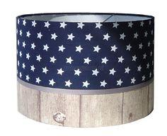 hanglamp jongenskamer blauw sterren en steigerhout