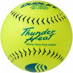 Dudley USSSA Thunder Heat Slow Pitch Classic M Stamp Softball - Synthetic Cover - 12 pack - http://www.closeoutball.com/softball-closeout-sale-discount-free-shipping/dudley-usssa-thunder-heat-slow-pitch-classic-m-stamp-softball-synthetic-cover-12-pack/
