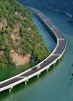 Drivers along the route are treated to breathtaking views of the valley as well as the river and nearby villages